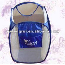 folded pop up polyester laundry basket washing bag for household