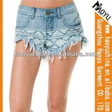 Señoras sexy pantalones jeans de mezclilla, pantalones vaqueros pantalones cortos( hy3242)