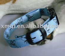 Blue Color Waterproof Nylon LED Dog Collars Wholesale Pet Collars & Leashes