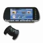 7 inch rear-view car LCD monitor with bluetooth(optional)