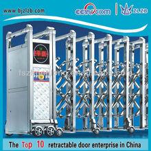 Modern automática porta sanfonada com aço inoxidável