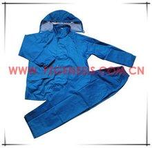 #FGAS011 blue polyester/pvc rainwear