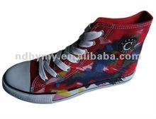 vulcanizado pintado a mano los zapatos de lona