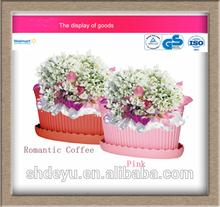 Garden Plastic planter pot flower base