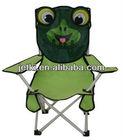 foldable portable fishing kid frog motive camping chair