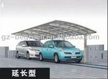 Promotion aluminum protective car shelter, carport shades, car parking canopy