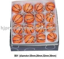 Inexpensive Mini Basketball Keyring/Football Keychains/Billiard Ball Keychains