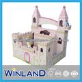 antigo castelo de brinquedo de madeira casa de bonecas