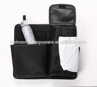 auto polyester car seat trash container,bag,tissue box,organizer