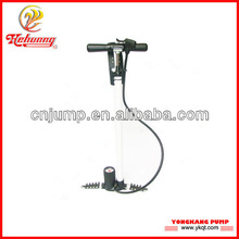 Aluminum bicycle hand air pump with pressure gage