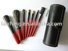 7pcs make up brush with PVC leather bag , Mini brush set , cosmetic brush set