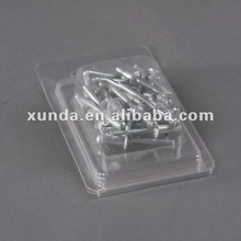 PET clamshell for nail and screw