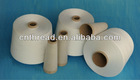 100pct spun polyester 50/2 raw white