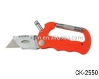 Carabiner knife with LED light