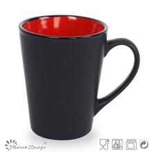 Assorted color glazed mugs V shape mugs supplier