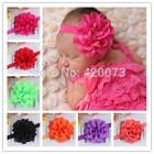 Baby elastic headband with chiffon flower CNEHB-02770