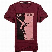 2015 hot sale popular cotton plain printing t shirt for men in humen