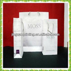 Custom logo printed wine paper handle bag