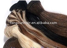 Colorful hand-tied Malaysian hair weft easy to be attached