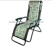 Steel sun lounger chair D-4001