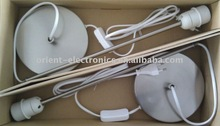 3A,250V CE approved Euro type table lamp cord