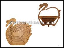 2014 FOOD GRADE foldable bamboo fruit basket