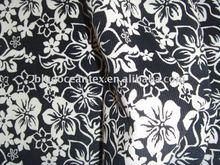 Tecido de veludo de algodão flores imprimir para vestidos