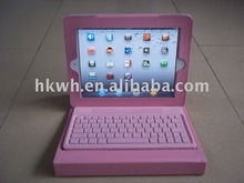 2012 Hot Stand Leather Case with Bluetooth keyboard for ipad