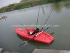 plastic molded lake recreational canoe GK-07