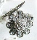 RG-0002 Flower shape alloy diamond fashion women rings