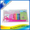 Pink PVC bag stationery manufacturer set