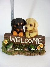 Polyresin Welcome brand dog for sale&dog figurine