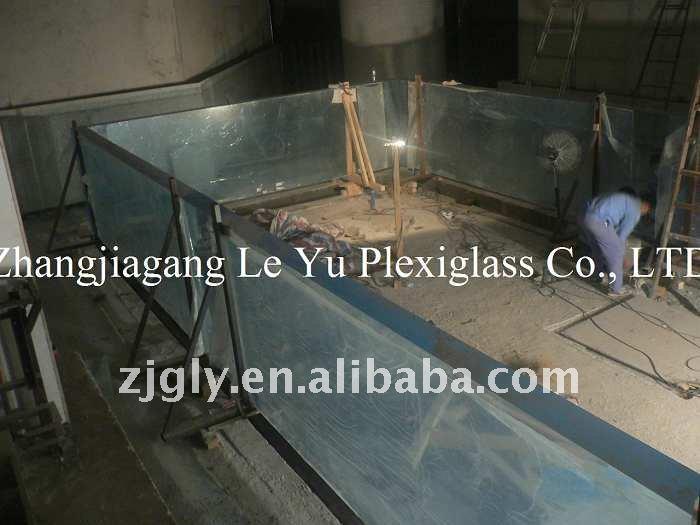 Acrylique en plastique dur transparent piscine feuilles en for Piscine plastique dur