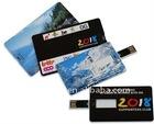 OEM Slim Logo Free Credit Card Usb Flash Drive