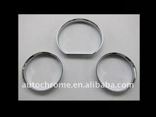 Chrome Dash Board Gauge Ring Set for MercedesBenz W210 00-02