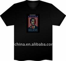 2011 el illumination t-shirt/popular animated christmas gift/el music active t-shirt/el/led/t-shirt