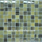 Color strip hand crystal mosaic painting glass tile
