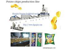 Potato chip frying machine
