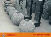 Limestone ball fountain