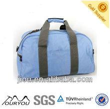 Simple Cambridge blue 600D polyester travel bag TB0822; travel set