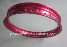 U 1.85X18 Bright Red motorbike 36 spoke rim/Alloy motorcycle wheels