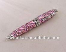 Rhinestone Metal ballpoint pens for promotion