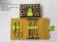 Leopard Print Manicure Pedicure Tools and Materials