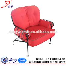 Outdoor Patio Red single seat sofa
