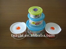 high temperature resistant glass food containers
