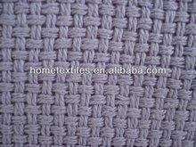 cotton cellular thermal blanket plain weave purple colour