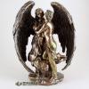 Elegant Bronze Or Brass Angel Statue Figure Carving