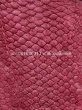 Genuine fish leather