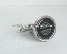 Round Shape Bulk Epoxy Metal Cufflinks