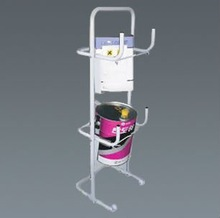 Steel material, H:120cm,W:45cm,D:40cm, Paint can stand